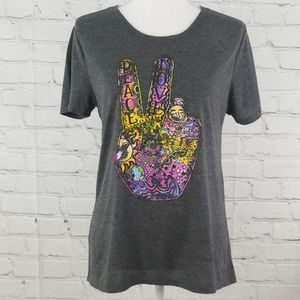 Modern Lux Peace Sign T Shirt